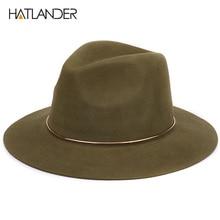 [HATLANDER]100% wool fedora hats for women