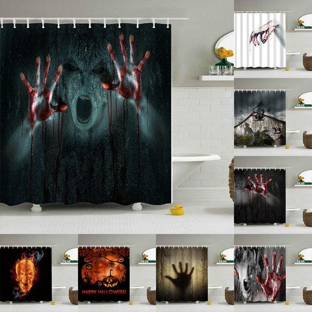 Halloween Sanguinosa Tenda Della Doccia, Help Me Con Mani Insanguinate Horror Sp
