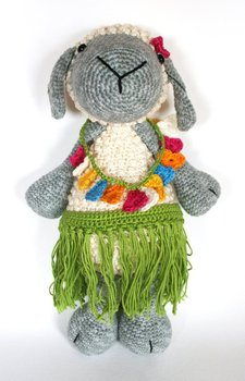 crochet toys  amigurumi dancing sheep   model number 0927