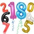 40 pulgadas grandes globos número globo 1st cumpleaños fiesta decoraciones adultos globos de helio fiesta decoración de la boda