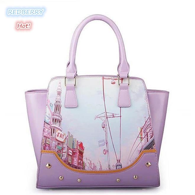 ФОТО 2015 fresh women tote new wing women handbag printing shoulder bag hot women messenger bags trendy crossbody bag PU leather bag