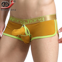 Boxer WJ 2016 Low Waist Funny Ropa Interior Para Hombre Calzoncillos Large Pouch Men Sexy Transparent
