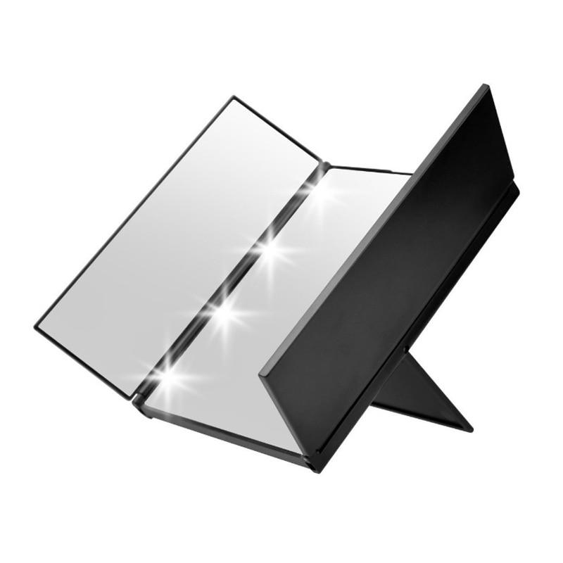 Liberal 8 Led-leuchten Kosmetikspiegel 3 Faltung Tragbare Touch Bildschirm Einstellbar Tabletop Arbeitsplatte Kosmetikspiegel Neues Design Ausgezeichnet Im Kisseneffekt Schönheit & Gesundheit Haut Pflege Werkzeuge
