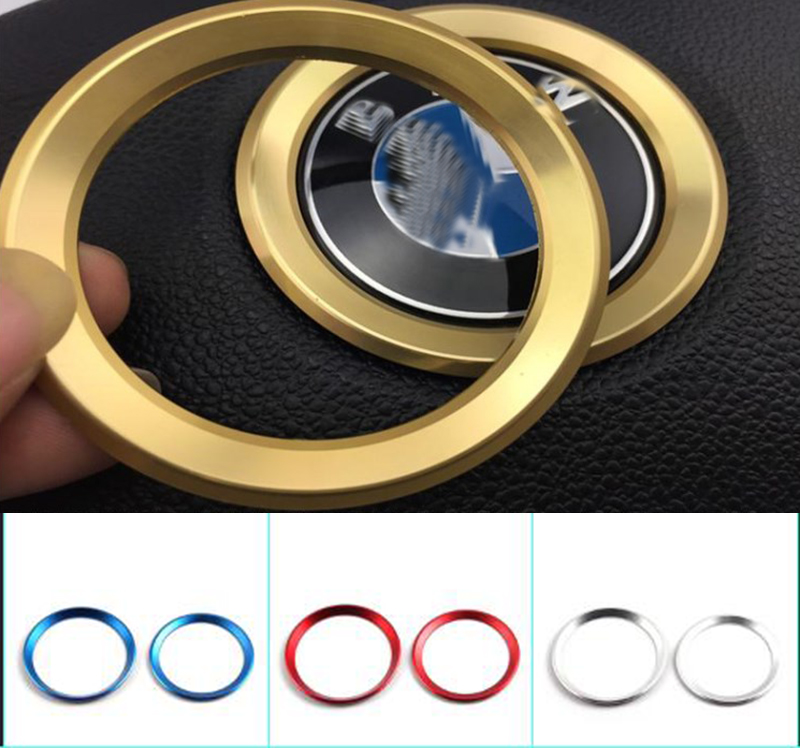 2019 Car Styling Excellent New 3D Steering Wheel Aluminium Alloy Sticker Case For BMW E39 E36 E60 E90 E34 E46 Car Accessories