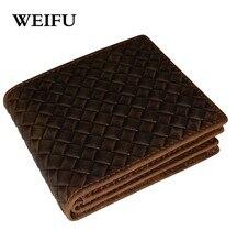 Weben männer brieftasche hauptschichtrindleder kartenhalter Geldbeutel und handtaschen