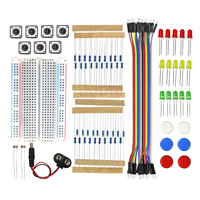 Free Shipping Smart Electronics Integrated Starter Kit For Arduino Uno R3 Mini Breadboard LED Jumper Wire