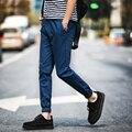 2016 nuevo estilo de moda para hombre casual tobillo-longitud pantalones de chándal hombres joggers harem pantalones masculinos de la buena calidad marca-ropa