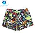 Gailang Marca Mujeres Pantalones Cortos Cortocircuitos del Tablero de Ropa de Playa Trajes de Baño Bermudas Mujer de Secado rápido Activo Pantalones Cortos Nuevo