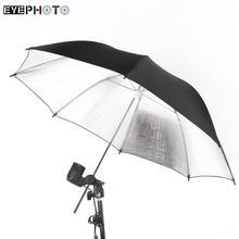83cm 33in Soft Umbrella Reflector Photo Studio Accessories Black Silver Photo Studio Strobe Flash Light Umbrella ES CN Stock