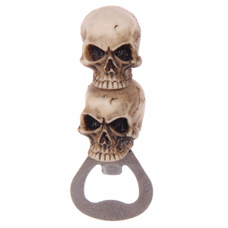 1Piece Gothic Fantasy Gruesome Skull Bottle Opener Day Of The Dead Cap Lifter Beer Soda Water Opener
