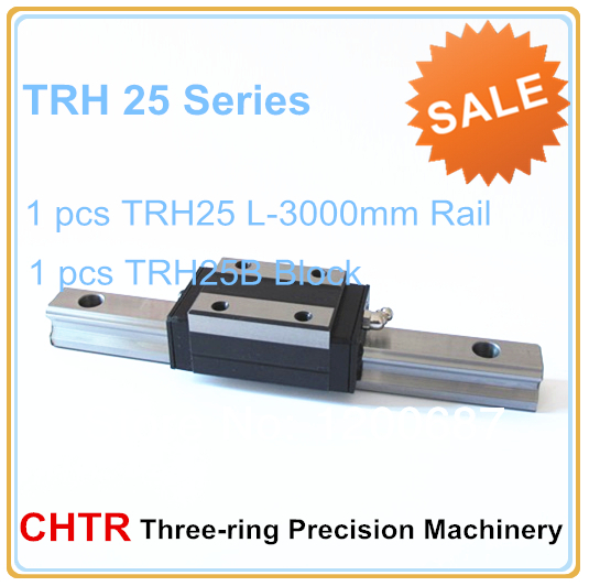 1 PCS TRH25L3000 Linear Guide Rail+1 PCS TRH25B Blocks Precision Linear Guide Rail 3000mm toothed belt drive motorized stepper motor precision guide rail manufacturer guideway