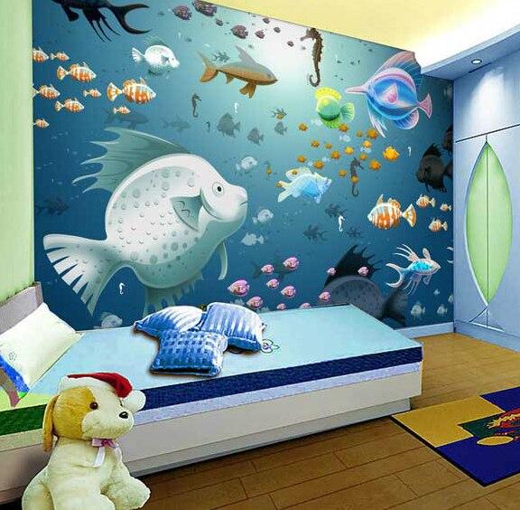 Camera per bambini a tema carta da parati verde 3d for Carta da parati camera ragazzi