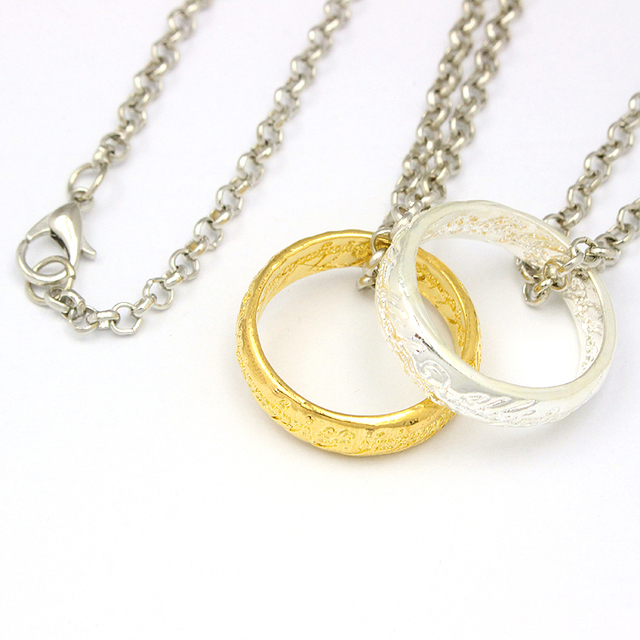 Lord Of The Ring –  Gold & Silver Plated Pendant & Necklace