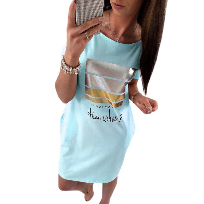 Mini Vestito Estivo Kawaii Lettera Dress Stampa 2018 Donne di Estate Manica Corta Vestiti Da Partito Sexy Casuale Della Spiaggia Femminile Nuovo GV801