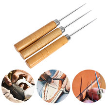 1/5PC Canvas Leather Shoes Repair Tool Awl Hand Stitching Taper Needle Cutting Paper Dies Leather Craft Sewing Supplies(China)
