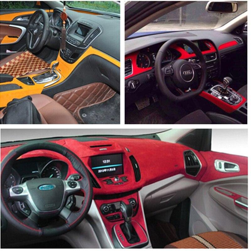Premium Quality Auto Suede Fabric For Car Interior Adhesive Sticker Car Wrap Velvet Film Suede Vinyl Film Car Decoration