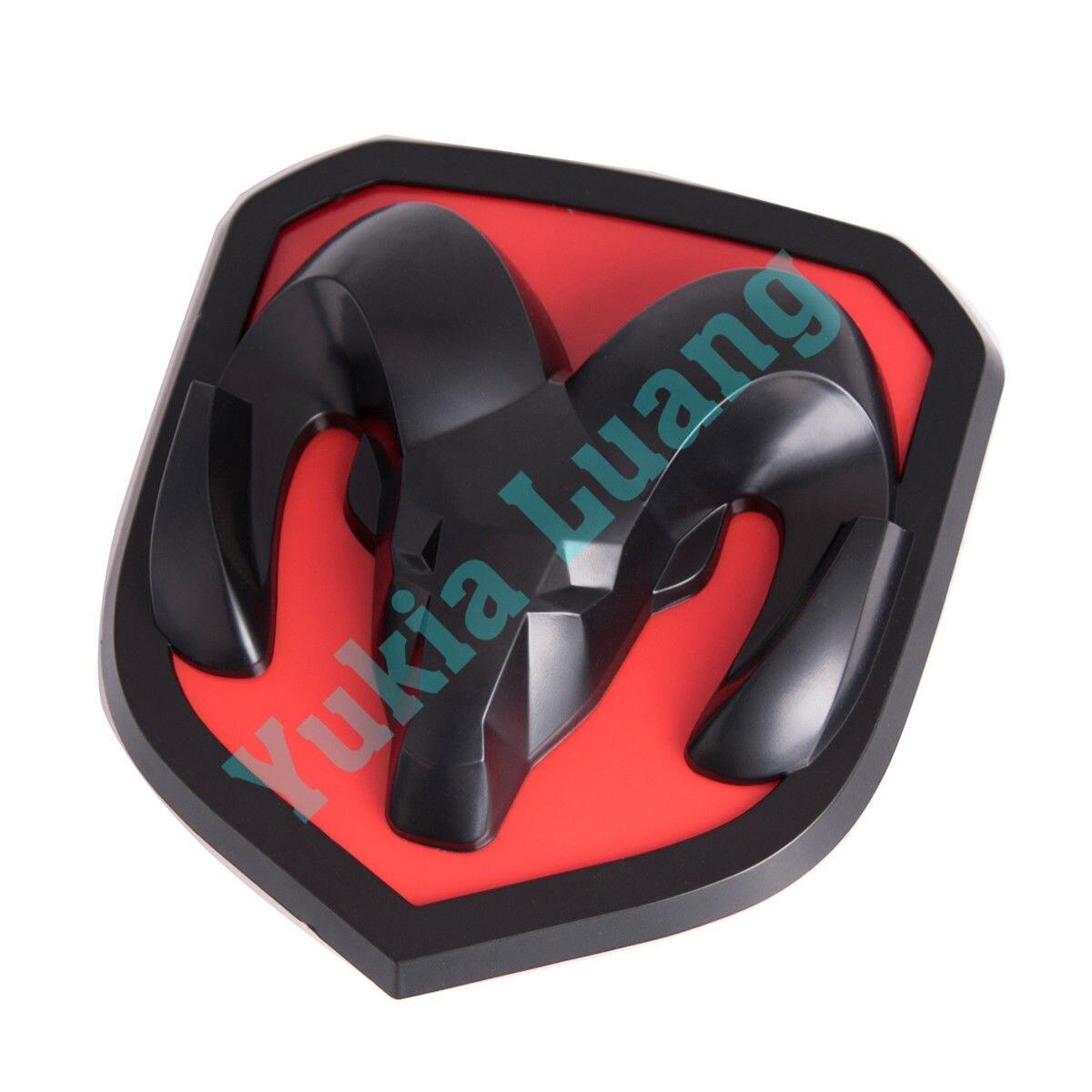 Front Grill Emblem Badge for Dodge Ram 1500 2500 3500 2013-2017 Black Red