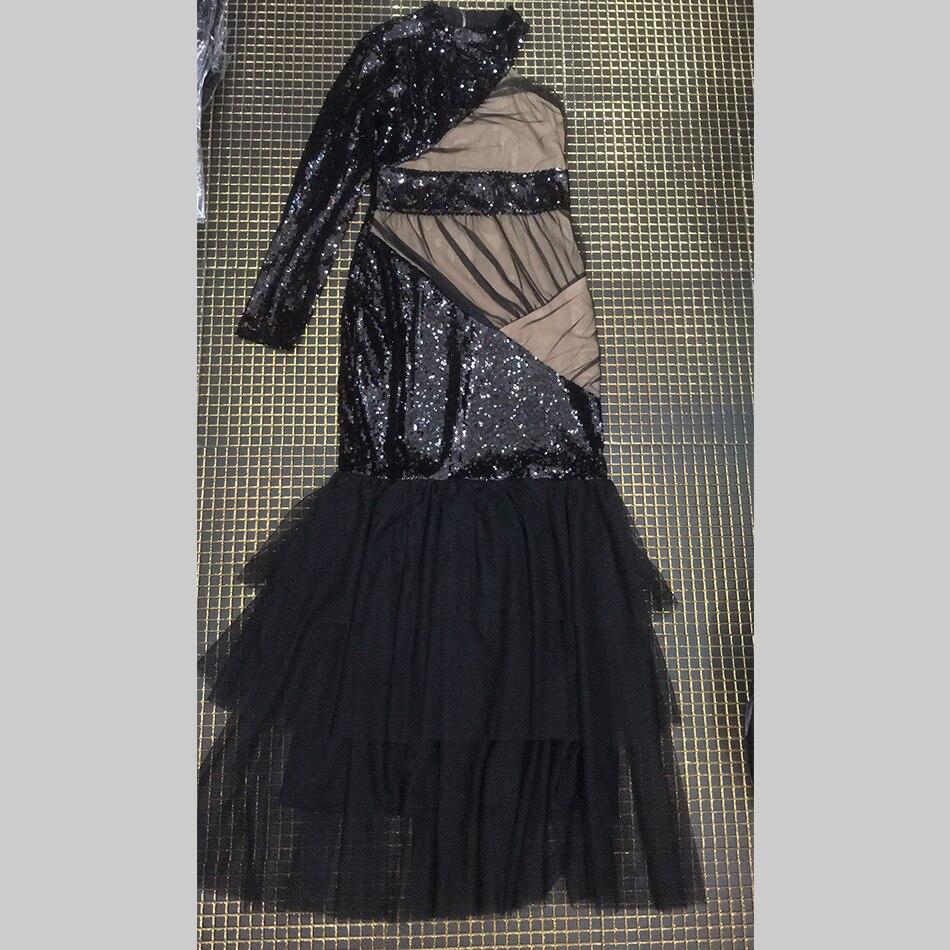 aef885587f5c Manica Nuovo Modo Maxi Donne Elegante One Lunga Celebrità Vestito 2019  Disegno Della Pista Black Di Delle Da Nero Partito Sexy Vestiti spalla Abiti  ...