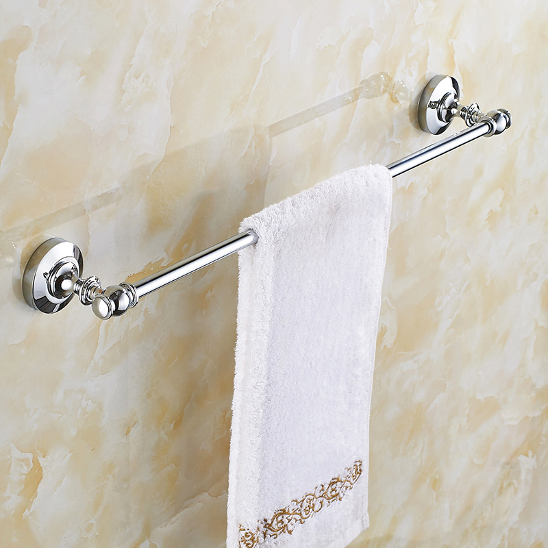 European Towel Bar Copper Towel Holder Antique Towel Rack Bathroom Pendant Single Bar Bathroom Accessories european copper gold towel rack toilet towel bar bathroom antique rotary towel bar antique activities towel 3 bar f91381