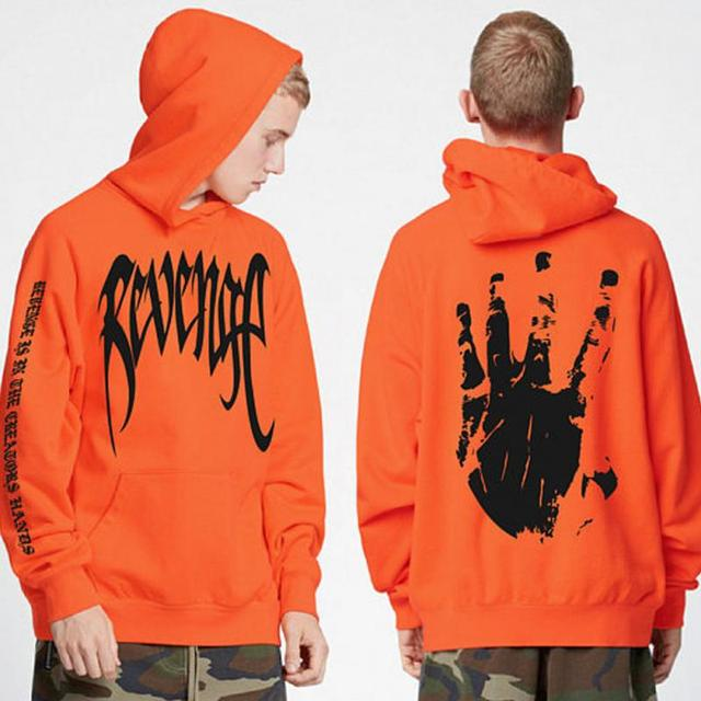 Revenge XXXTentacion Kill MENS Sweat Hoodie Hip Hop Sweatshirt pullover Orange Black