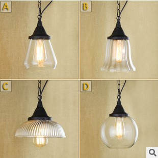 60W Edison Pendant Light Vintage Industiral Lighting Glass Lampshade In America Country Loft Style, Pendente De Teto democracy in america nce