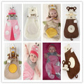 Retail-Animal Cartoon Modeling DIY Baby Costume/Beetle Owl Monkey Bear shape Baby Sleeping Bag/disassembled Sleeping Sack