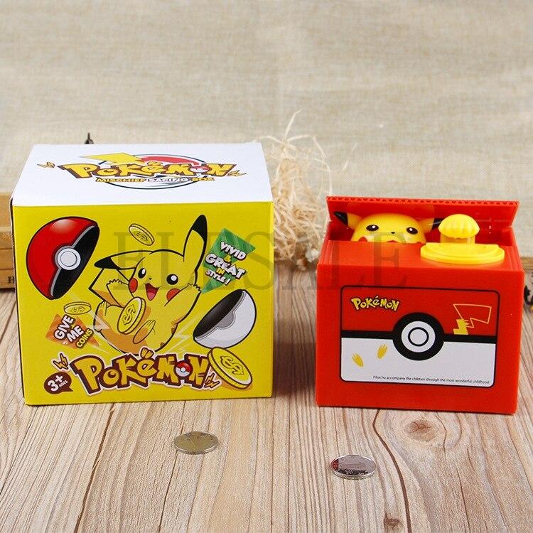 Image 5 - New Cute Pokemon Auto Steal Coin Piggy Bank Electronic Plastic Money Safety Box Coin Bank Saving Box For Kids Birthday Giftbox brandbox coinbox box -