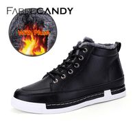 FABRECANDY New 2017 Winter Boots Men Winter Shoes Camouflage Warm Plush Fashion Brand Mens Ankle Boots