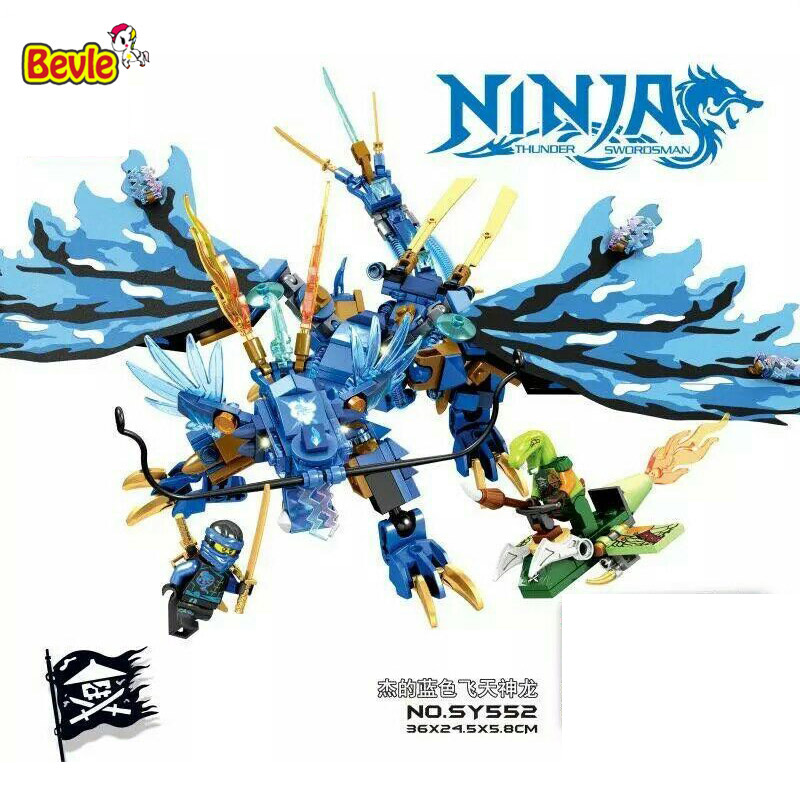 Bevle SY552 Ninja Jay Flying Blue Dragons Building Block Bricks Toys   Kids Gifts Compatible with Lepin samsung rs 552 nruasl