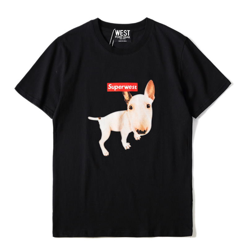 2018 Man T-Shirt Fitness Dog T-Shirts Tops O-Neck Hip Hop Men Summer Short Sleeve Groot Interesting T-Shirt Animal Bullterrier ...