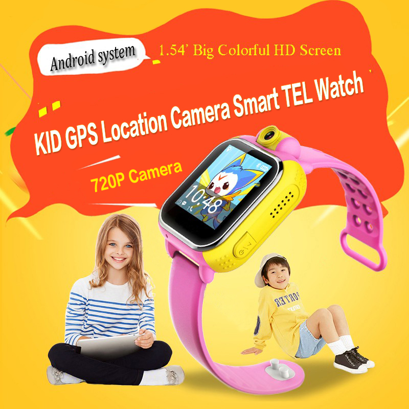 Kids GPS watch 3G Camera LBS WIFI Wristwatch GPRS GPS Locator Tracker Anti-Lost Smartwatch Baby Watch For IOS Android G75 smart baby watch q60s детские часы с gps голубые