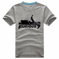 The Summer Fast And Furious 7 Movie Paul Walker Souvenir T Shirt Collection Customized Short Sleeve