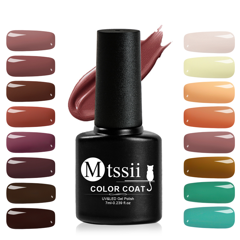 Mtssii 7ml Nail Polish Pure Color Semi-Permanent Nail