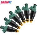 6x Top Racing топливный инжектор  для Bosch EV1 Volvo vw Audi GMC Chevrolet Dodge BMW 440cc/min TURBO 42 LB/HR 0280150558
