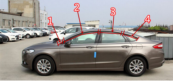 Car Styling!8pcs Stainless Steel Upper Window Sills Trim Covers  For Ford Fusion Mondeo 2013 2014 2015 for vauxhall opel astra j 2010 2014 stainless steel window frame moulding trim center pillar protector car styling accessories