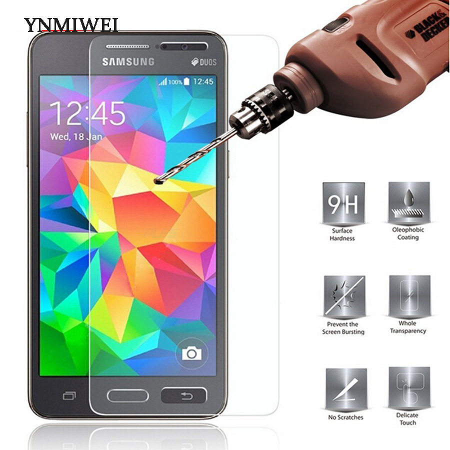 Verre trempé pour Samsung Galaxy Grand Prime G530 G530H G530F G531H G531F Film de protection d'écran Film de téléphone 2.5D 9H dureté