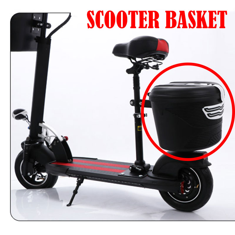 2018 new Plastic Basket with Cloth Lining and Lock for Xiaomi Mijia M365 Electric Scooter  Installation on Front or Rear2018 new Plastic Basket with Cloth Lining and Lock for Xiaomi Mijia M365 Electric Scooter  Installation on Front or Rear