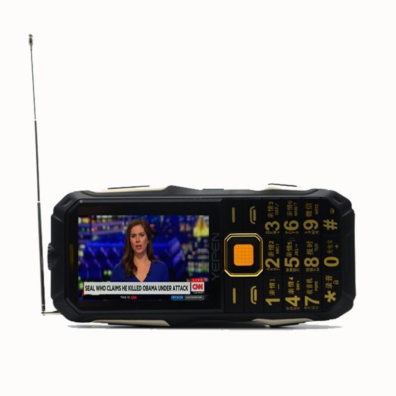 YEPEN Y698 flashlight wireless FM radio 2800mAh long standby dual SIM card mp3 mp4 power bank Analog TV rugged mobile phone P072YEPEN Y698 flashlight wireless FM radio 2800mAh long standby dual SIM card mp3 mp4 power bank Analog TV rugged mobile phone P072