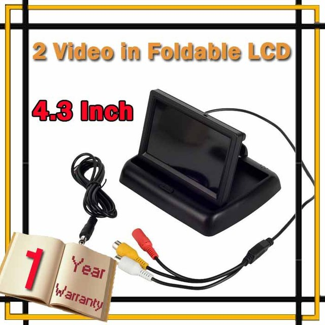 "Frete grátis HDMI 4.3 ""TFT LCD Car Inverter Rear View Monitor PARA DVD Camera Dobrável"
