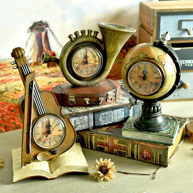 Retro Home Decor Musical Instruments Ornaments Nostalgic