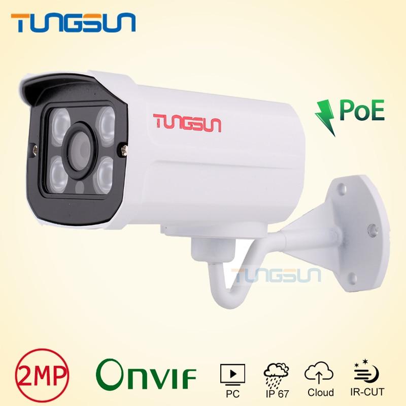 H.264 HD 2MP 1080P IP Camera POE Outdoor IP67 Network 1920*1080 Bullet Security CCTV Camera P2P Onvif Night Vision 4 Array LED hjt full hd 1080p ip bullet camera 36ir night vision hi3516c sony imx323 security outdoor onvif 2 1 rtsp ftp network p2p h 264