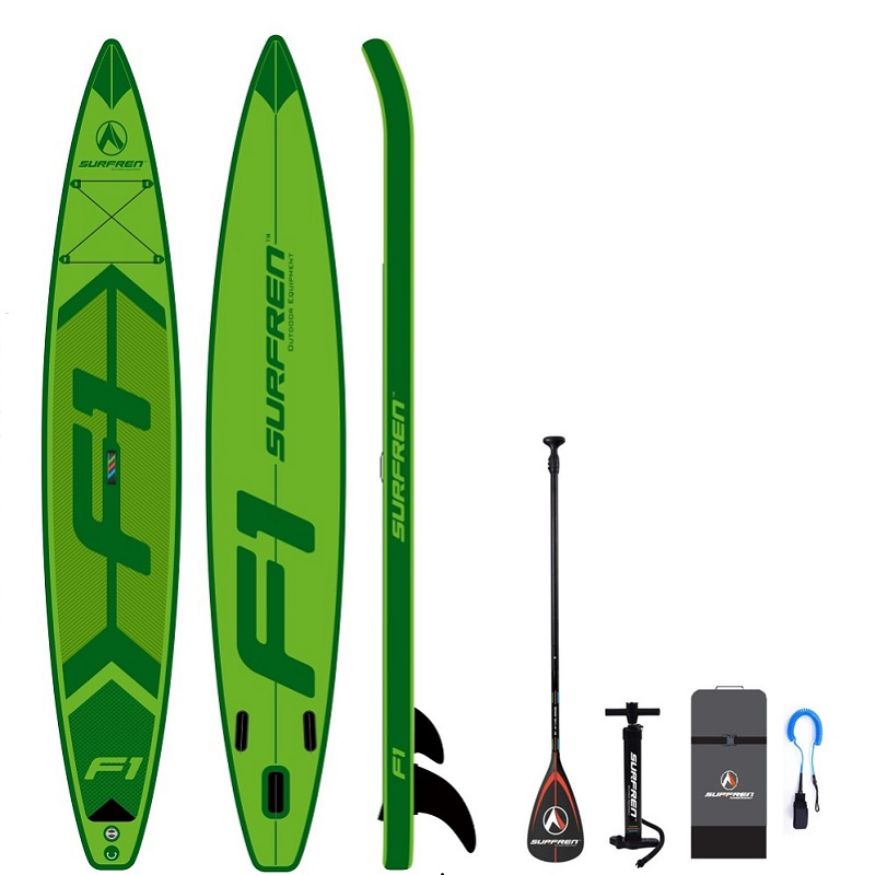 Inflable de Surf de pie SUP paddle Junta iSUP tabla de Surf temporada 2019 SURFREN carreras de F1 tamaño 428*76*15 cm surf kayak barco