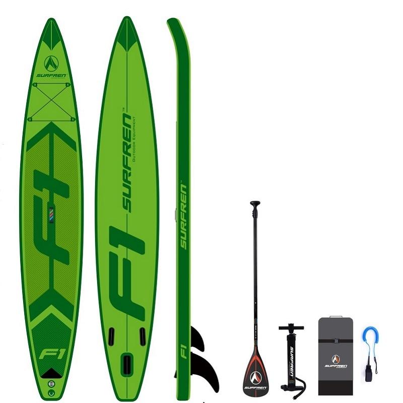 Inflable de Surf de pie SUP paddle Junta iSUP tabla de Surf temporada 2019 SURFREN carreras de F1 tamaño 428*76*15 cm surf kayak barco