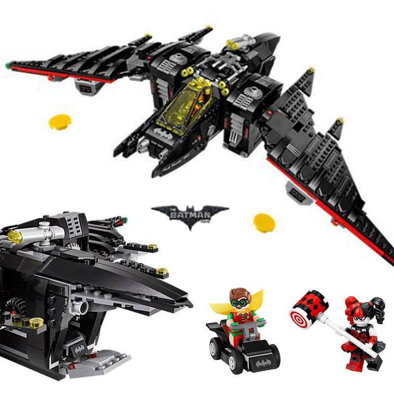 все цены на Bela 10739 Batman Movie The Batwing Building Blocks 1068pcs Bricks Toys Compatible With Legoings Batman 70916