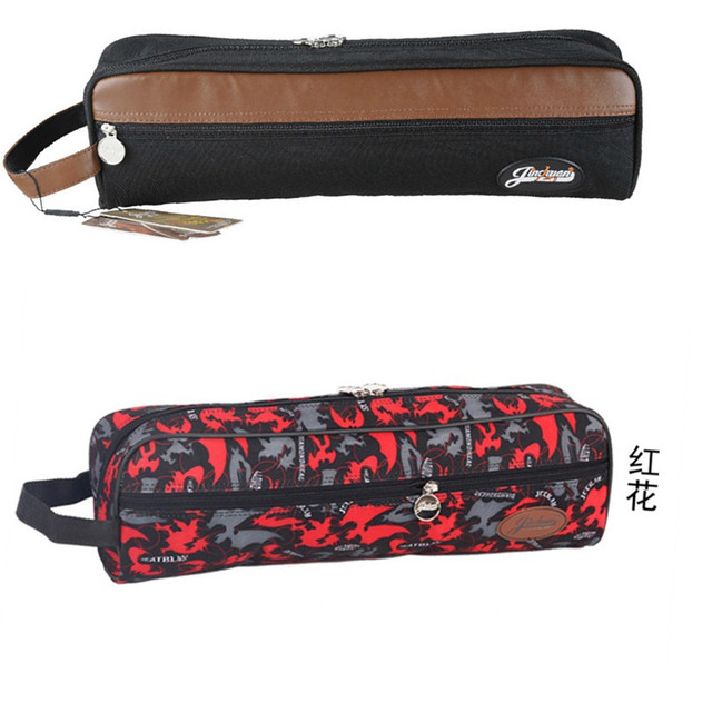 Design for concert 17-hole flute soft case waterproof bag padded portable gig package box shoulder with straps pocket black red