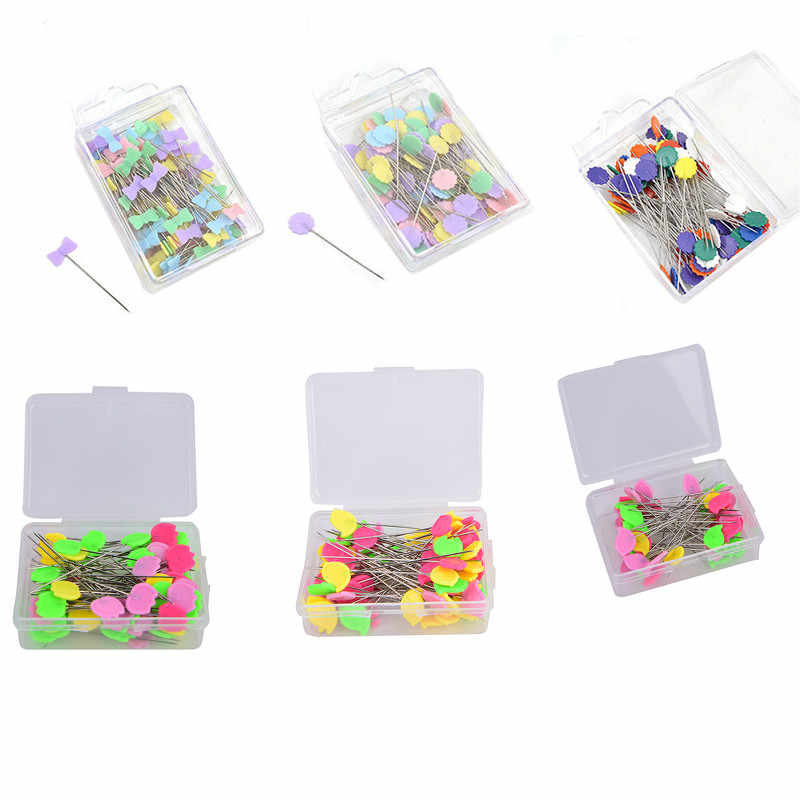 Patchwork Needle Craft Flower Button Head Pins Embroidery Pins For DIY Quilting Tool Sewing Accessories