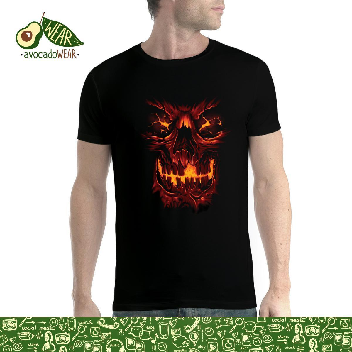 Skull Fire Scary Horror Men T shirt XS 5XL NewStreetwear Funny Print Clothing Hip Tope Mans T Shirt Tops Tees Hot Sale Men in T Shirts from Men 39 s Clothing