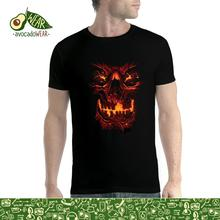 Skull Fire Scary Horror Men T-shirt XS-5XL NewStreetwear Funny Print Clothing Hip-Tope Mans T-Shirt Tops Tees Hot Sale
