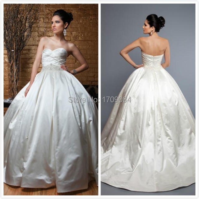 New Elegant Pnina Tornai Ball Gown Wedding Dresses Sweetheart Ruched ...