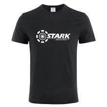STARK INDUSTRIES TONY IRON MAN T-shirts Summer Brand 100% Cotton T Shirts Fitness Casual Short Sleeve Tops